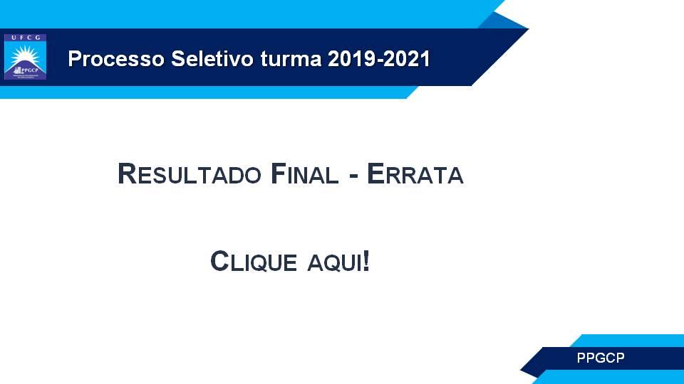 Seleção 2019-2021 - Resultado final - errata