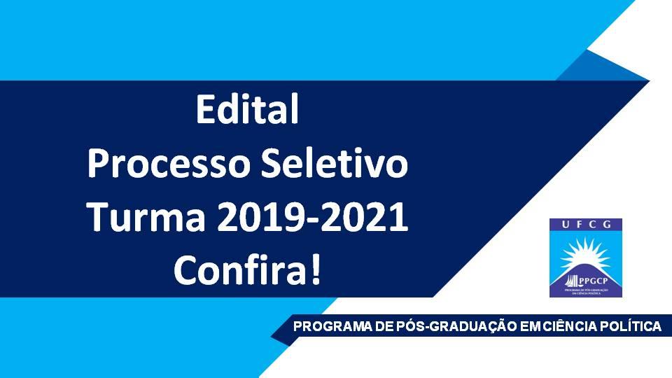 Processo Seletivo 2019-2021