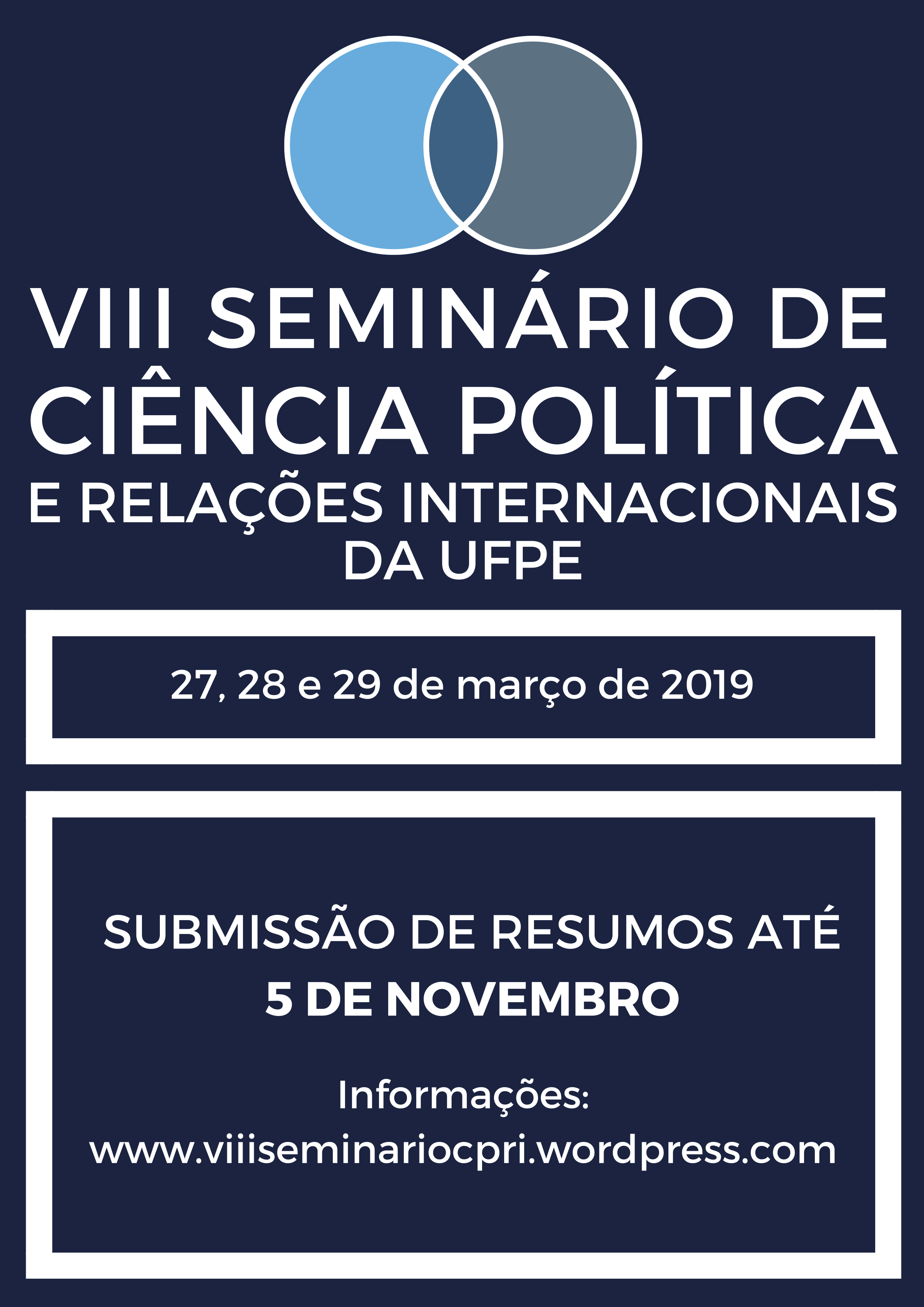 VIII Seminário de Ciência Política e RI UFPE